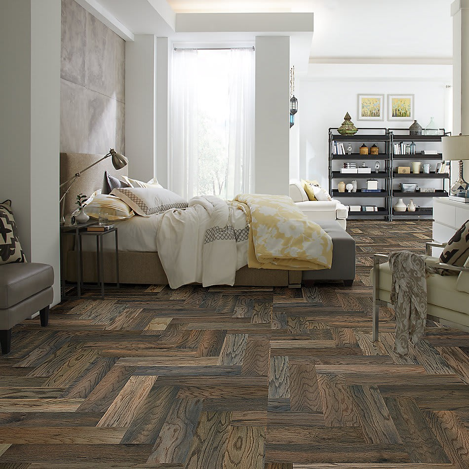Chevron Hardwood Flooring in Bedroom | Tish flooring