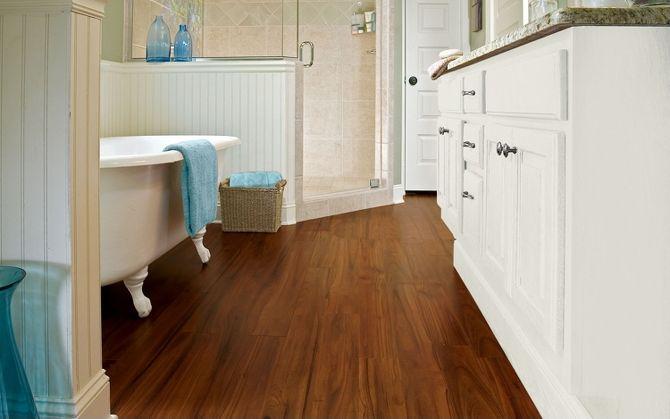 Luxury Vinyl Flooring is great for bathrooms