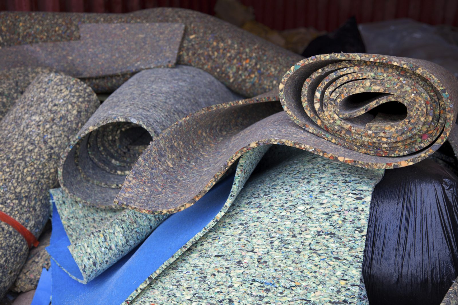 There are multiple types of carpet padding.