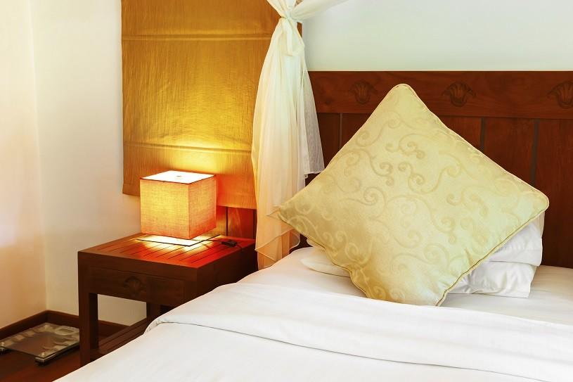 Hotel room at Maldives - vacation concept background